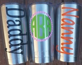 Custom Yeti Tumbler Decals