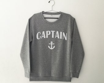 Nautical anchor crewneck sweatshirt graphic sweater funny sweatshirt women jumper tumblr sweater hipster sweatshirt sailing gift women