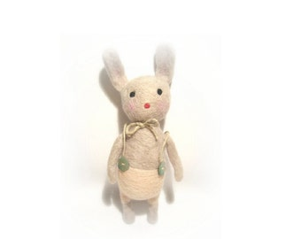 Custom needle felted  bunny rabbit, Plush bunny rabbit  animal toy,handmade art toy,Waldorf toy, Art Doll, Fiber art