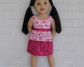 """Pale Pink Peplum Top & Co-ordinating Pink Skirt - Dolls clothes for 20"""" Australian Girl doll"""
