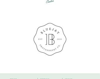 "Pre Made Logo Design - Small Business Logo - ""Bluejay Photography"""