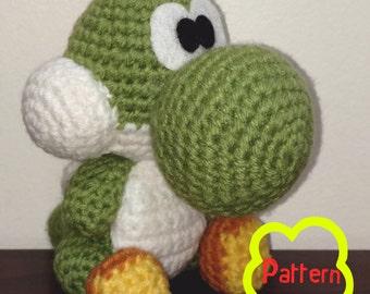 PATTERN: Crochet Yoshi Amigurumi