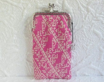 204A - iPhone 6 Case Fabric, iPod Touch Case, Cell Phone Case, Samsung Galaxy Case, eyeglass case, cover handmade