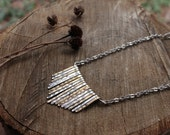 Long Stamped Shield Necklace