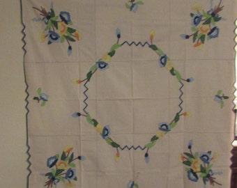 50 X 50 Inch Hand applicaid Table Cloth