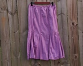 M L XL Medium Extra Large Plus Size Volup Vintage Purple Stitched Boho Festival Hippie Indie Hipster Summer 100% Cotton Maxi Skirt