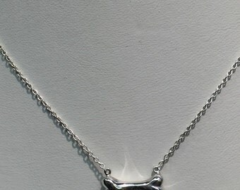 Handmade Silver 3D Bone Necklace
