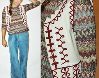 vintage FOLK Traditional Polish Wool Soutache Vest