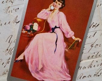 5 Vintage Glamorous Brunette Pin Up Playing Cards