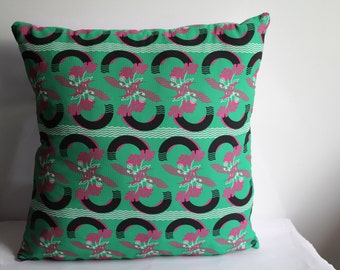 Green Floral Pillow Cover , Lilac Satin Pillow Case, Two Sİded Pillow Case, Home Decor