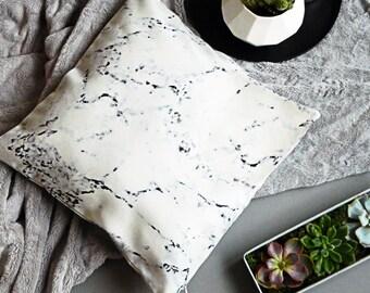 Minimal interior Marble print cushion cover
