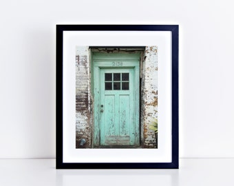 213 One Half: 8 x 10 Rustic Charming Door Color Photograph