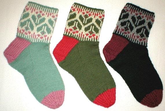 Knitting Pattern - Springtime Socks, PDF pattern, ladies women's ...