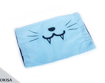 Fashion Kitty Face Mask, Dust Mask, Surgical Mask ( Blue, Mint, Pink, Purple, Black, or White )