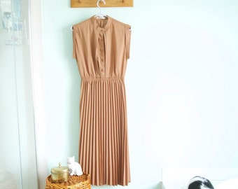 Vintage brown maxi dress - see through