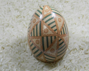Etched 48 Triangle Pysanky Egg