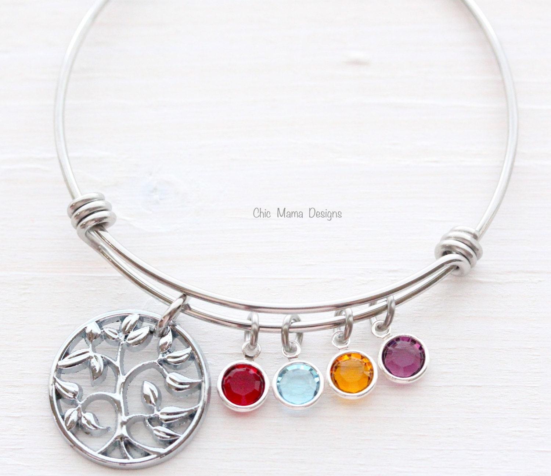 family tree bracelet charm bracelet bangle bracelet mothers