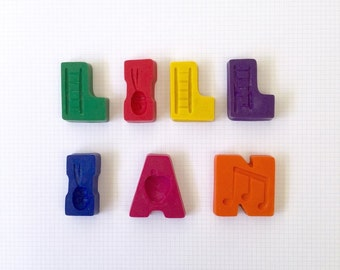 7 Letter Name Crayons - Personalised