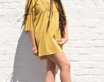 Gold Jersey Dress