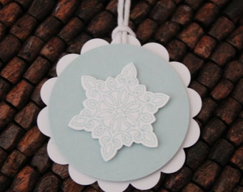Frozen Snow Flake Favor Tags - set of 10 tags