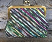 Biased Handwoven Clasp Purse - With Alpaca