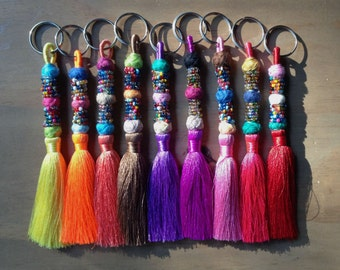 Beaded Tassels Decorative Tassels Jewelry Charm, BOHO Jewelry Making Supply, Keychain,Jewelry Tassels,Beaded Supply,Assorted Colors