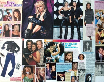 JENNIFER ANISTON ~ Friends, Horrible Bosses, Office Space, Ferris Bueller ~ Color and B&W Clippings, Articles, Pin-Ups for Scrapbooking