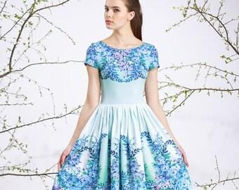 Blue Porcelain - short dress