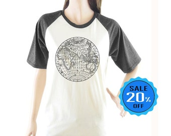 Earth Globe Map Eastern Hemisphere shirt fashion shirt short sleeve shirt unisex shirt size S M L
