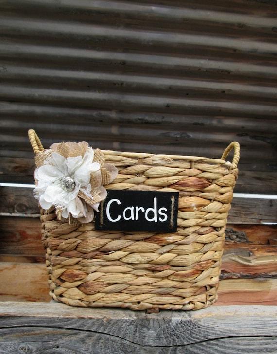 Wedding Card Basket Rustic Wedding Card Holder Basket Card