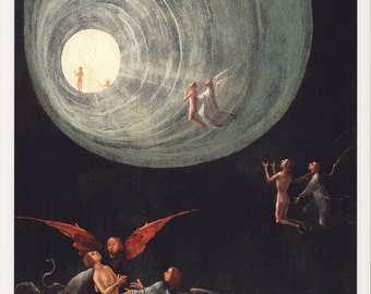 "Hieronymus Bosch Fine Art Poster Print, ""Paradise and Hell,"" c. 1505-1515"