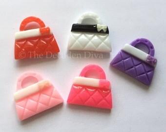 Girly Handbag Purse - 5 pcs | DIY Phone Case | Kawaii Decoden Supplies | Resin Cabochons