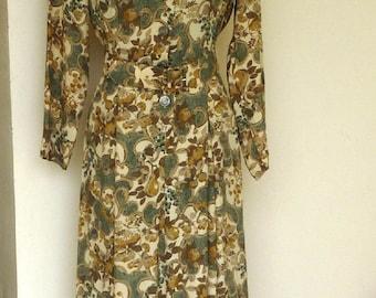 Vintage Laura Ashley Floral Dress UK size 14 with Belt,