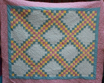 Triple Irish Chain Twin Quilt