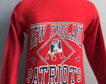 80s Vintage New England Patriots Sweatshirt - SMALL