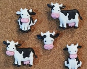 Cow Push Pins or Magnets