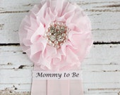 Pink Baby Shower Corsage Mommy to Be Grandma to Be Pin Badge Ribbon Bride to Be