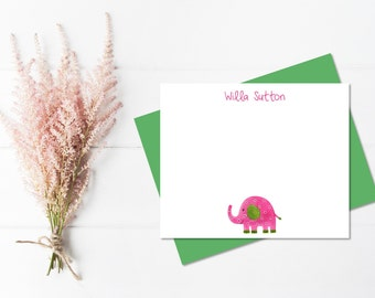 Elephant Stationary | Personalized Stationery Set for Girls | Elephant Stationery | Cute Stationary | Girls Stationary