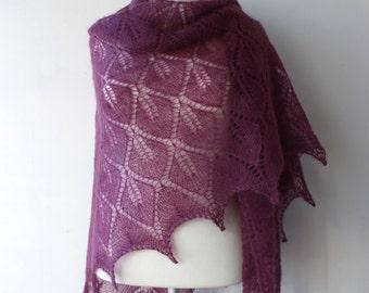 15% OFF - Purple lace shawl, luxury kidsilk shawl