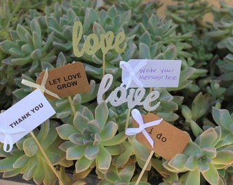 20 Wedding Favor Tags for Succulents - The Succulent Source