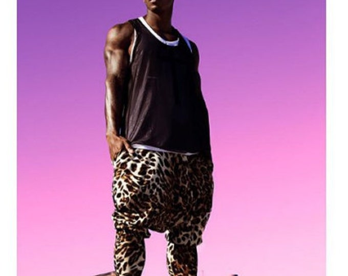 Cheetah Printed Dropped Crotch Pants