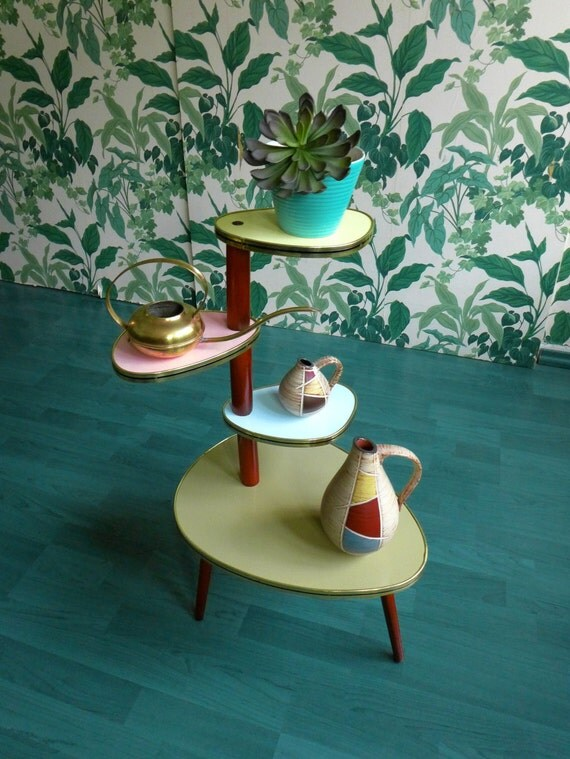Plant Stand Side Table Coffee Table Etagere Mid Century