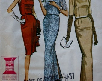 McCalls 7080 / 60s Sewing Pattern / 60s Dress / Back Buttoned Jacket / Bust 32