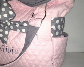 Added Outside Pockets To Diaper Bag