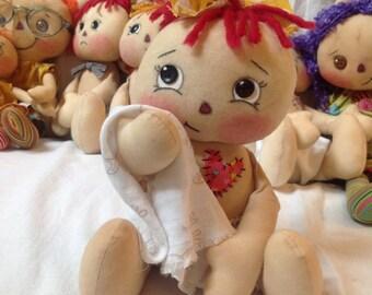 Primitive rag doll, Olivia