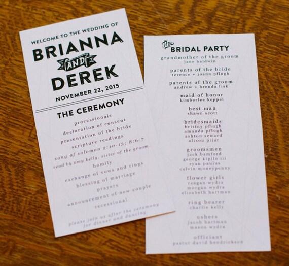 Vistaprint Wedding Programs: Geometric Customized Wedding Programs Digital File Only