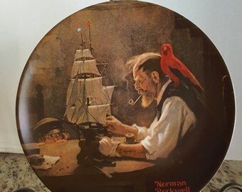 """Knowles Limited Editon Norman Rockwell """"The Ship Builder"""" 1980"""