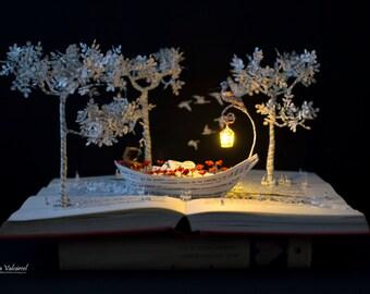 Into the Mystic - Book Sculpture - Book Art - Altered Book