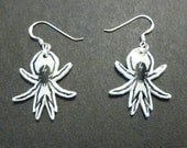 My Chemical Romance Danger Days Spider Silver Earrings  Hand-drawn