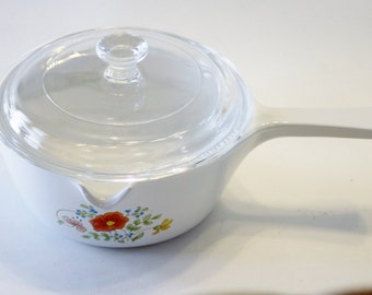 Corning Ware Wild Flower P-89-B 2 1/2 cup Menuette Sauce Pan and Lid